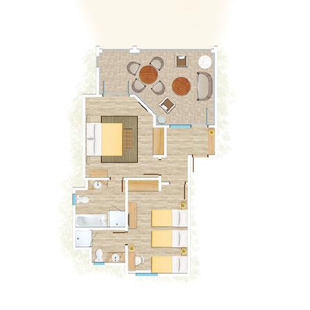 Appartement Famille de 2 chambres