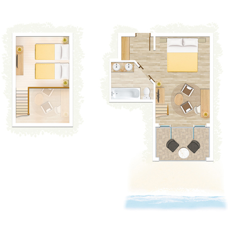 Duplex Famille vue mer