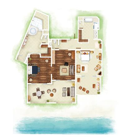 2-Bedroom Luxury Family Suite Beachfront