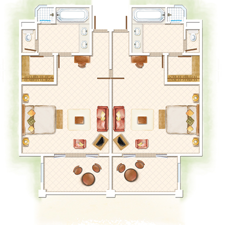 2-Bedroom Deluxe Family Apartment