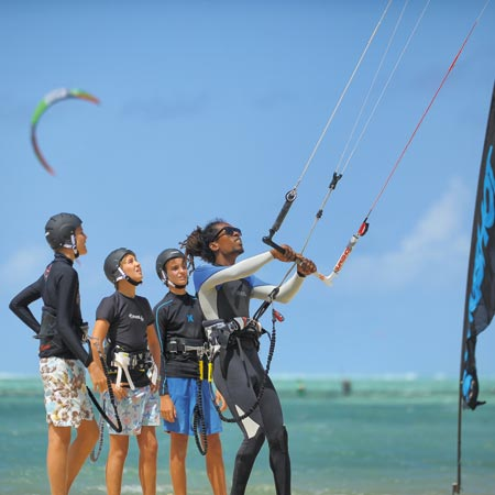 The Dinarobin Kitesurf School