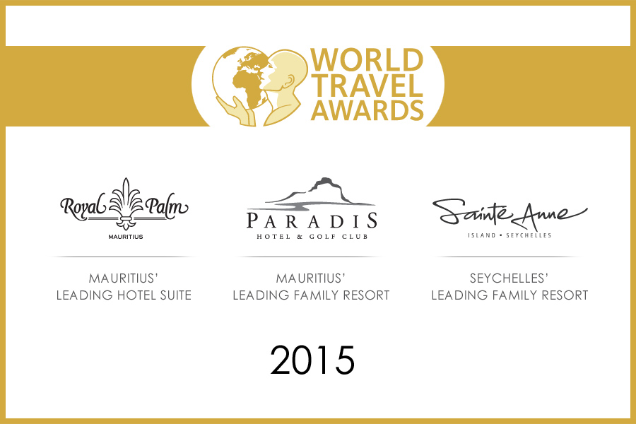 Royal Palm Mauritius, Paradis and Sainte Anne rewarded at World Travel Awards