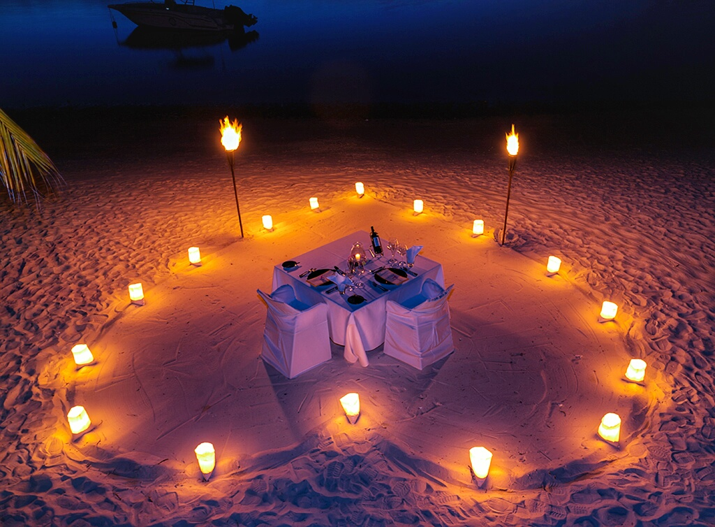 Exclusive Romantic Starlight Dinners On The Beach At Trou