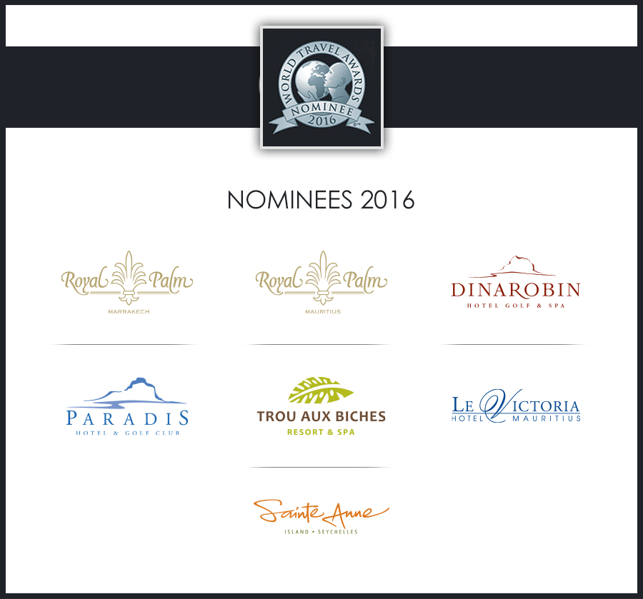 Seven Beachcomber hotels nominated for World Travel Awards 2016