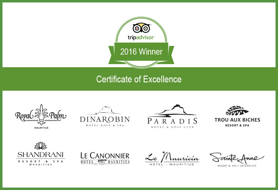 Tripadvisor Certificate Of Excellence Renewed For Beachcomber Hotels